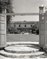 Rancho Los Cerritos: The gate to the patio at west end of compound.