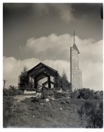 """The """"Glass Church"""" on Palos Verde Drive South, designed by Frank Lloyd Wright, Jr. and occupied by the Church of the New Jerusalem."""