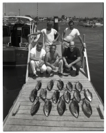 Men with a tuna catch (Balboa Angling Club)