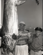 Paul Owsley poses with a broadbill he caught.