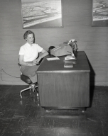 Marian Johnson of the Escrow Department in the Corona del Mar office of Newport Balboa Savings and Loan – (141-143).