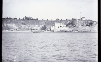 A view of China House from across the channel on the Balboa Peninsula.