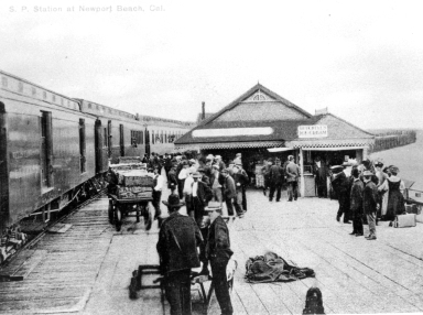 Southern Pacific station at Newport Beach.