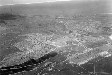 Aerial photograph of the 1953 National Boy Scout Jamboree.