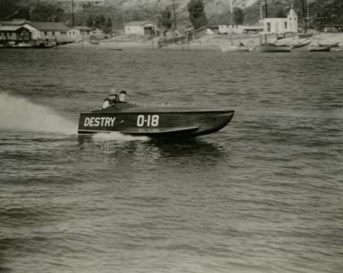 """Destry"" during the Association of Speedboat Clubs regatta."