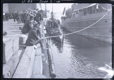 German Submarine (U-88) at dock