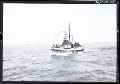 Nuchum at sea, Pacific Fleet at background left
