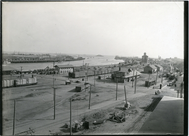 Main channel, Dead Man's Island, Globe A1 Flour, trains, train tracks, Pacific Electric cars