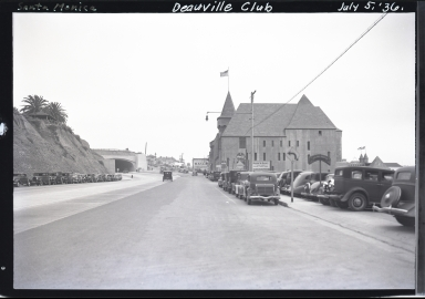 Deauville Club, old cars, tunnel, State Highway 60 entrance to Santa Monica freeway