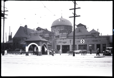 Old Santa Fe Railway Station, replaced by Union Station in 1939