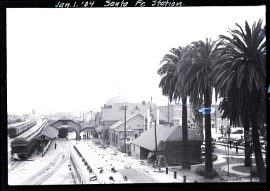 Old  Santa Fe Railroad Station, replaced by Union Station in 1939