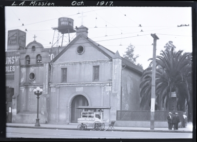 Our Lady Queen of Angels Church, Sunset Boulevard and Main Street