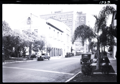 Wilshire Boulevard, high rise building, cars