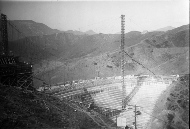 Convention participants inspecting Hoover Dam construction