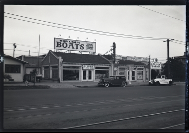 Bob Lamia Boats and  Santa Monica Garage, old cars