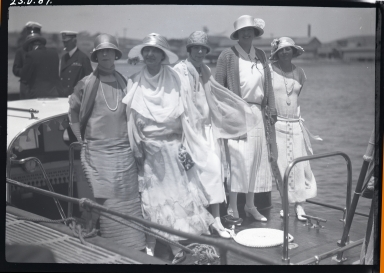 5 ladies on a boat enroute to USS San Diego