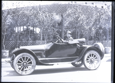 Man in automobile