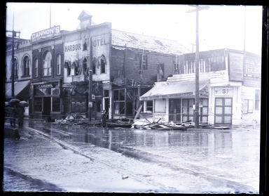 Front Street and 5th Street, after fire