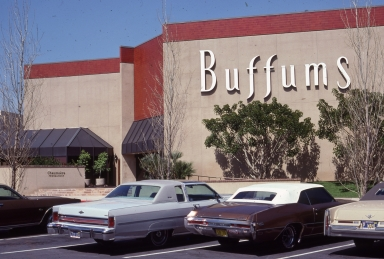 The exterior of a Buffums store.