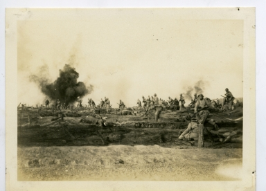 Filming battlefield scene for the movie <em>All Quiet on the Western Front.</em>