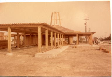 View of Amling's Nursery under construction from the front of the property.