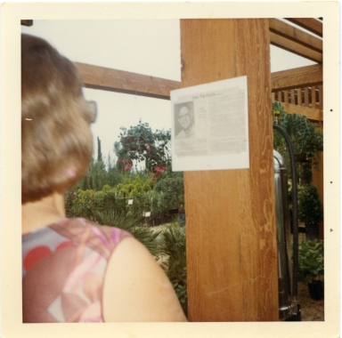 Clara Amling, May 13, 1966, Opening of Amling's Nursery