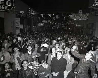 The Pike amusement zone: New Year's Eve Penny Scramble, when a penny was worth a scramble.