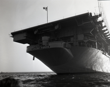 "Aircraft carrier ""Valley Forge"" in operation. (April 27)"