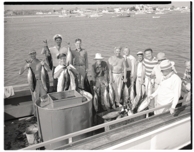 Anglers with catch of albacore
