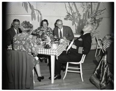 Newport Harbor Yacht Club annual pirate party, 10/27/1945