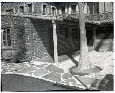 Details of a house exterior and dock