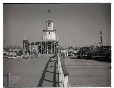 Construction of the Harbor Master's office.
