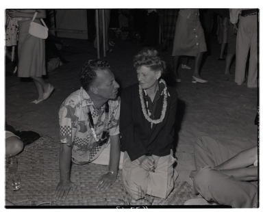 Luau (Ken Davis, speaking to an unknown woman)