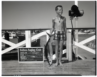 Jim Knight with Albacore, 1948