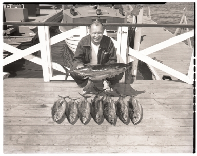 Man with catch of albacore