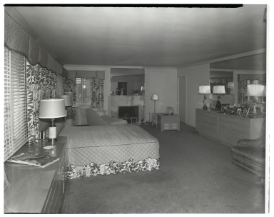 The interior of the J. E. Axelson house.