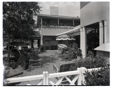 The patio of the J. E. Axelson house.