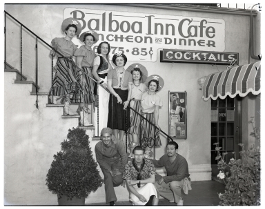 Staff of the Balboa Inn Cafe dressed for Pirate Days.