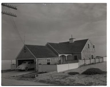 A beachfront home.