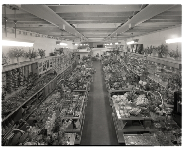 View of the interior of an unidentified florist shop.