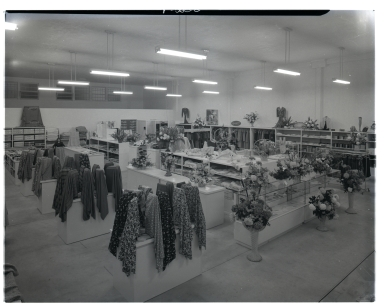 The interior of Orkins Department Store.