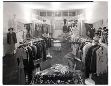 The interior of Polly Apparel.