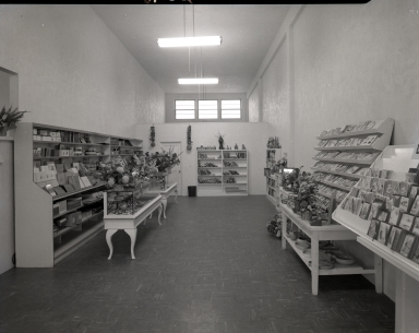 The interior of P. V. Parks Jewelery and Stationary.