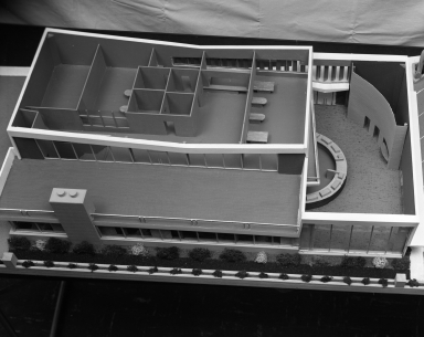 Palmer office model of new building