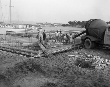 First concrete poured – new Palmer building, 631 and 632