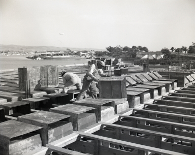 Construction of the Newport Balboa Savings and Loan building – second floor forms (676-678).