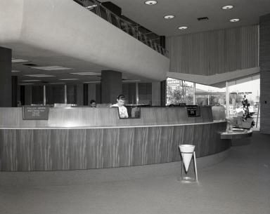 N.C.R. bookkeeping machine at Newport Balboa Savings and Loan