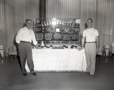 Ken Nichols coin collection on exhibit at the Newport Balboa Savings and Loan.