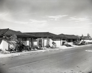 Typical houses in Irvine Terrace section of Newport Beach.