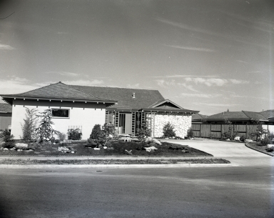 Typical houses in the Westcliff section of Newport Beach.